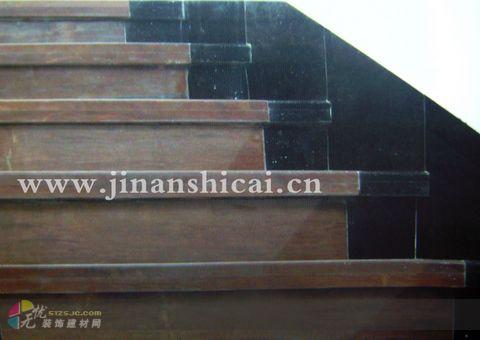 紫檀木纹石楼梯板-楼梯踏步